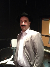 Jeff Davis as Detective Beck (Understudy) during a mid-rehearsal break.